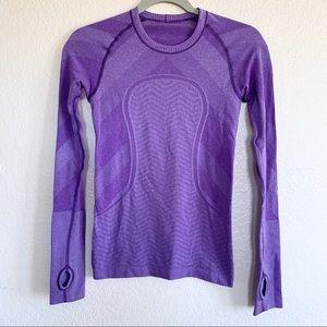 Lululemon Swiftly Tech Long Sleeve Top Purple